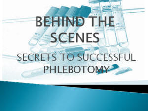 Essays on phlebotomy